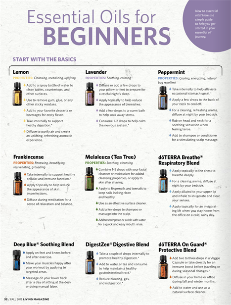 essential oils for beginners.